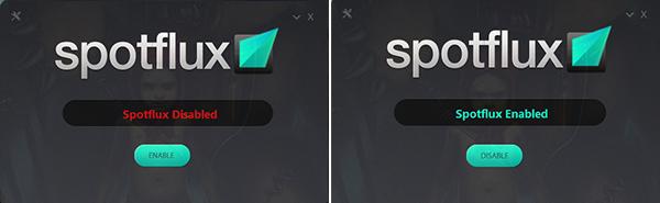 Turn on Spotflux